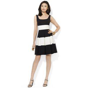 Ralph Lauren A Line Black and White Dress